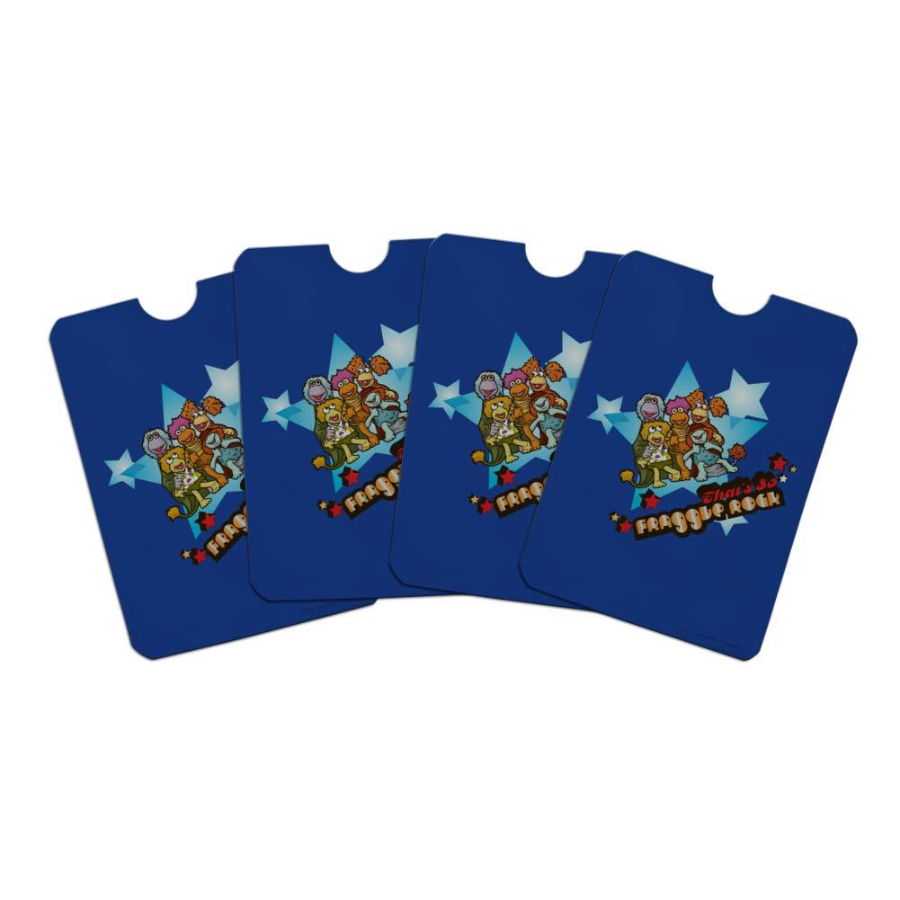 Thats So Fraggle Rock Credit Card RFID Blocker Holder Protector Wallet Purse Sleeves Set of 4