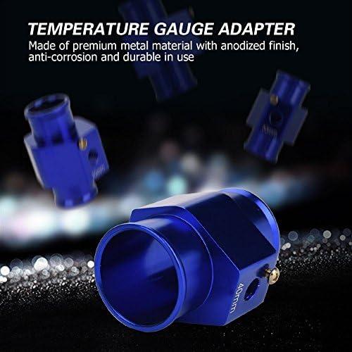Kimiss Wasser Temp Adapter Universal Wassertemperatur Temperatur Gemeinsame Rohr Sensor Manometer Schlauch Adapter Blau 40mm Auto