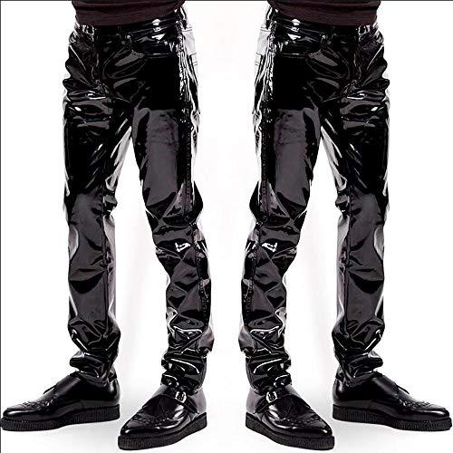 Paillettes Haute Xl Qualité À Hommes Mince Afyh Cuir Confortable Assortir Pour Synthétique En Et De Costume Pantalon Facile Verni BnRPXq