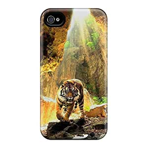 For MikeEvanavas Iphone Protective Cases, High Quality For Iphone 4/4s Bengal Tiger 3d Skin Cases Covers