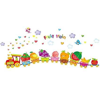 Guluded Cartoon Fruit Wall Sticker Wall Decal Home Decor Wall Poster Paper Murals Decal Removable Car