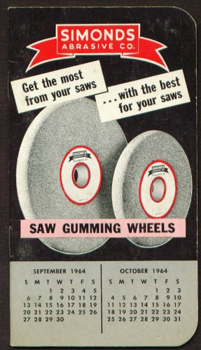 Simonds Abrasive Saw Gumming Wheels pocket notebook - Saw Abrasive