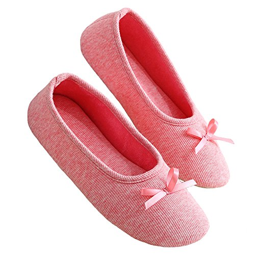 Soft bestfur Home Womens Shoes Slippers Warm bestfur Womens Cotton Red twZgtq1r