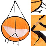 """Dyna-Living 42"""" Durable Downwind Wind Sail Sup Paddle Board Instant Popup for Kayak Boat Sailboat Canoe Foldable Style Orange"""