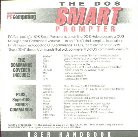 Amazon The Dos Smart Prompter By Pc Computing Dos Help Dos