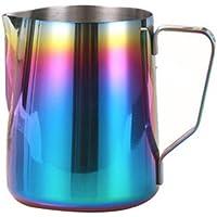 Rainbow Colorful Espresso para leche jarra de acero