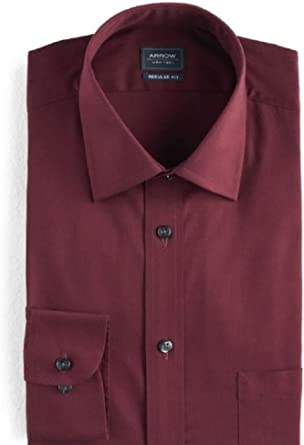 *NEW* Heritage Twill Arrow Wrinkle Free Casual Long Sleeve Dress Shirt Black