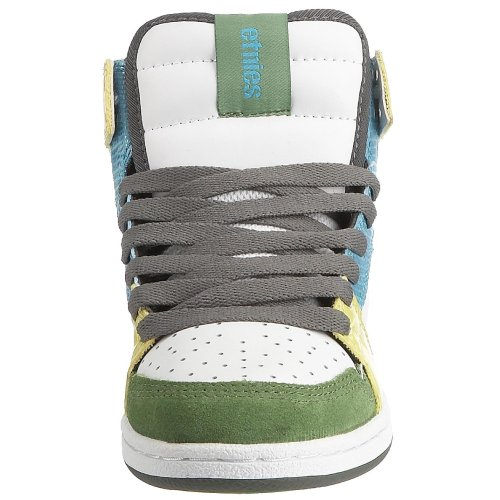 Etnies Women's Perry Mid Skateboarding Trainer Green/White/Yellow gUEKhQE