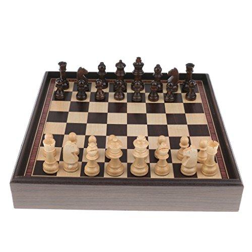 Kesoto ウッド ボックスデザイン チェス盤 チェスピース 国際チェスゲーム