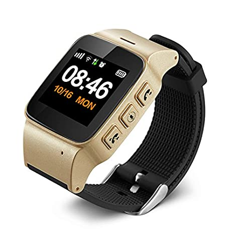YMQMYZ Smart Watch Ancianos niños Anti-Perdidos Mini SOS GPS + ...