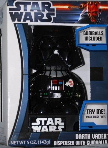 Star Wars Talking Darth Vader Dispenser with Gumballs -