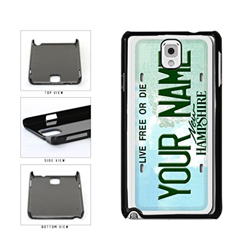 Personalized Custom New Hampshire License Plate Plastic Phone Case Back Cover Samsung (Gorham Vanity)