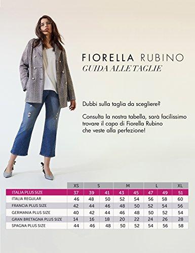 Plumetis Piccoli Rubino Size Lungo Nero In italian Maniche Fiorella Plus Vestito Volants Sulle wI6XdIq