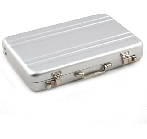 Aluminum Safe Suitcase Briefcase Business ID Credit Card Holder Case Box NEW L