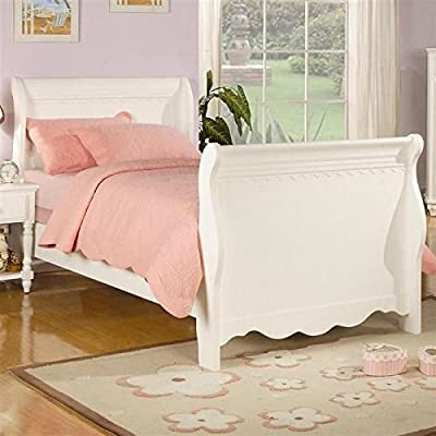 Coaster 400360T Pepper Youth Bedroom Twin Sleigh Bed In White Finish