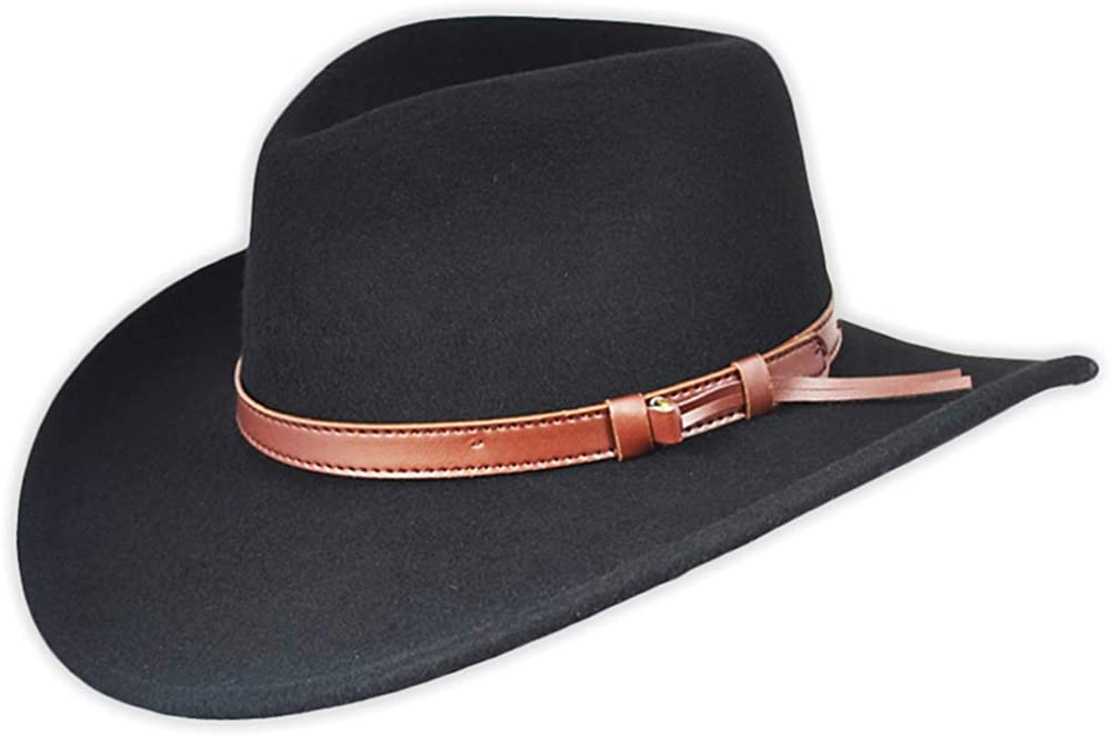 Crushable Wool Felt Cowboy Hat with Leather Band