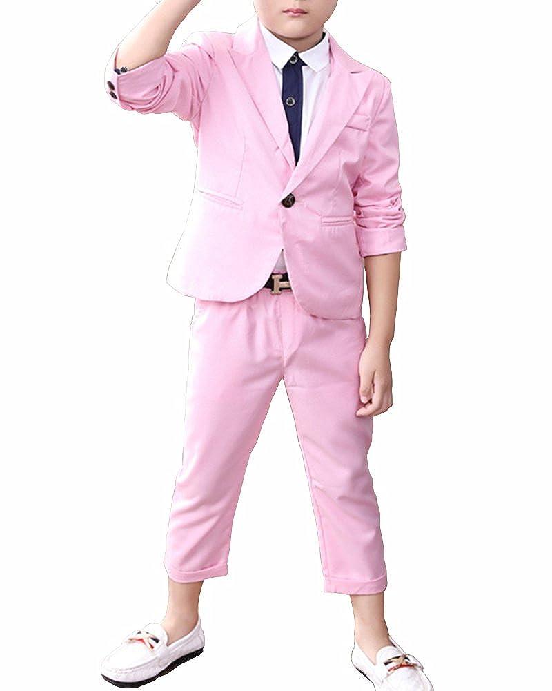 Quge Completo Formale 2 Pezzi Giacca + Pantaloni Suit Matrimonio Ragazzo Costume Festa Di Outfit