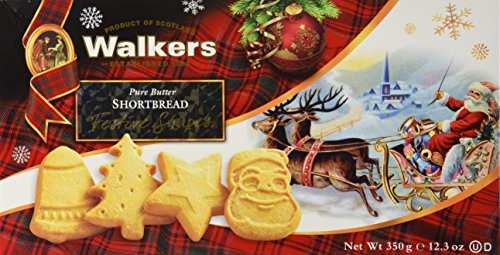 Walkers Shortbread Festive Shapes (12.3 Ounce Box), Traditional Pure Butter Shortbread Cookies from the Scottish Highlands, Quality Ingredients, No Artificial Flavors