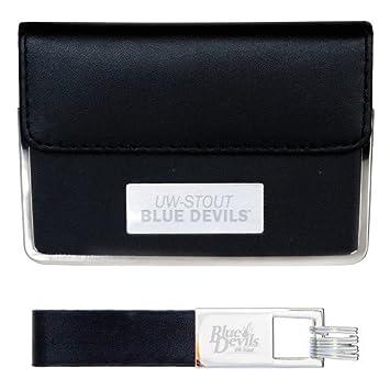 Amazon uw stout business card case and key ring set black uw uw stout business card case and key ring set black uw stout blue devils colourmoves
