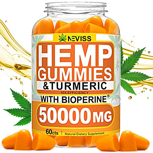 Hmp-Gummis-with-Turmeric-Bioperine-50000-MG-Hmp-Gummis-for-Pain-and-Anxiety-Relief-Stress-Inflammation-Relief-Sleep-Calm-Mood-Support-100-Natural-Organic-Hmp-Gummis-Made-in-USA