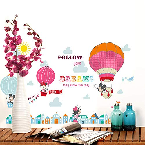 Amazon.com: Wall Sticker ZOZOSO Cartoon Mickey Minnie Mouse ...