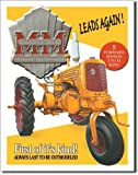 """ART/ARTWORK - Licensed Collectibles - AGRICULTURE FARMING FARM EQUIPMENT [35421130] - """"Minneapolis-Moline - Model YT Tractor"""" - Artwork/Sign Is Paint On Metal [TSFD]"""