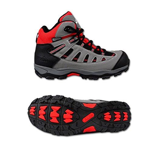 McKinley botas de senderismo y trekking, color marino/gris/naranja gris/rojo