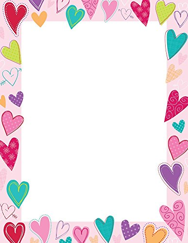 "Great Papers! Dancing Hearts Letterhead, 80 Count, 8.5""x11"" (2015017)"
