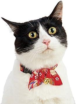 Amazon.com: necoichi oribon Kimono Bow Tie Gato Collar, Rojo ...