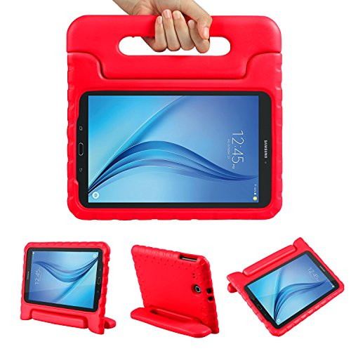 Color-Our-Life-Samsung-Galaxy-Tab-E-96-Kiddie-Case-Shock-Proof-Light-Weight-Convertible-Handle-Stand-Cover-for-Samsung-Galaxy-Tab-E-96-Inch-Tablet-Red