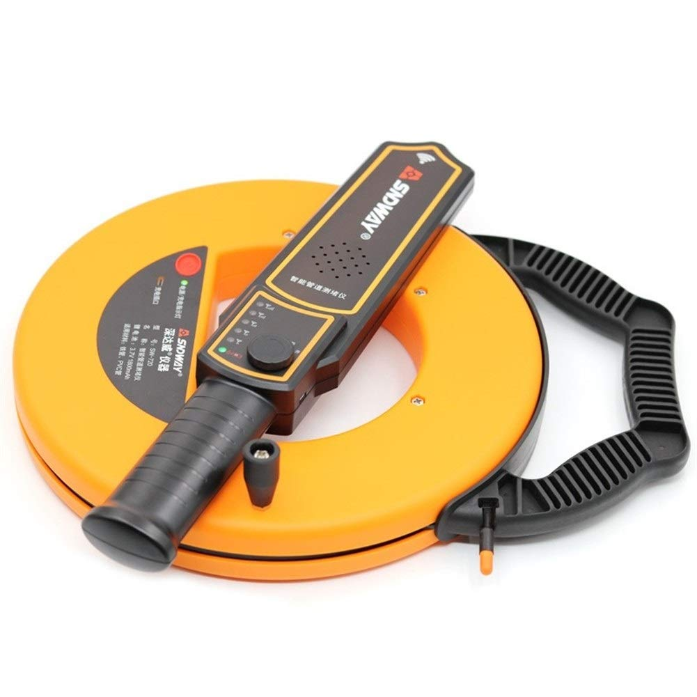 XM-multimeter Digital 30m Pipe Scanner Thickness Gauge Pipeline Blockage Blocking Clogging Finder Plumbers Width Measure Instrument Precise