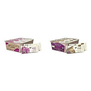 GoMacro MacroBar Organic Vegan Snack Bars Cherries + Berries 2 Ounce Bars (Pack of 12) & MacroBar Organic Vegan Protein Bars - Peanut Butter Chocolate Chip (2.4 Ounce Bars, 12 Count)