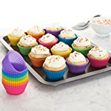 Amazon Basics Reusable Silicone Baking Cups, Pack