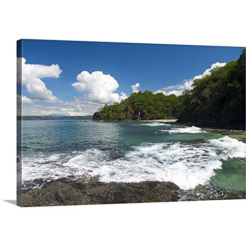 Papagayo Wall Decor - Surf on The Beach, Costa Rica Beach, La Punta Papagayo Canvas Wall Art Print, 48