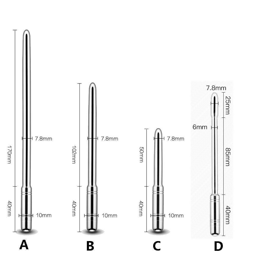 Santchcz Estimulación De Uretra Masculina Vibrador Sonidos Uretrales Juguetes Catéteres Dispositivo De Estimulación Castidad Plug Vibrating Pene,D a60a33