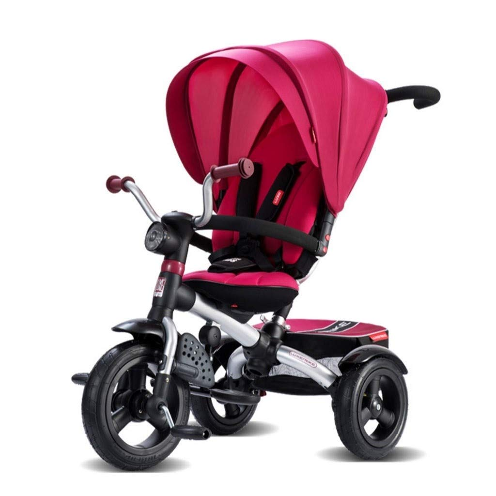 RJJX Home Baby Stroller Baby Stroller for 1-4 Years Old Baby, Convertible Stroller Ultra Light Portable Compact Single Stroller 5 Colors Optional (Color : Red) by RJJX Home