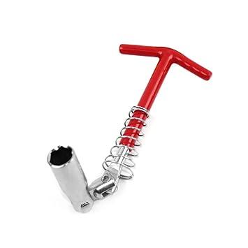Tipo de manija en forma de T Llave de bujía Socket 360 Degree Rotar Herramienta de ...
