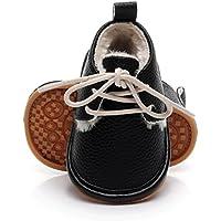 AutumnFall Baby Girls Boys Crib Shoes Prewalker Newborn Infant Soft Sole Anti-Slip Sneakers (Age:18~24Month, Black)