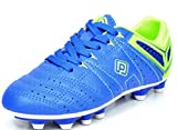 DREAM PAIRS 160471-K Kid's Fashion Soccer Shoes Outdoor Light Weight Lace Up Football Sport Cleats Sneakers (Toddler/Little Kid/Big Kid) Royal-L.Green Size 2