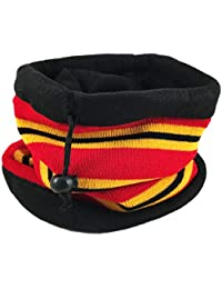 Fleece Lining Neck Warmer Scarf Bandana Neck Gaiter Tube Multifunctional Ski Mask Head Band Beanie for Kids Little Boy/Girl (Red)
