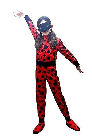 Disfraz de mariquita carnaval color rojo talla 3/3/4 años ladybug ...
