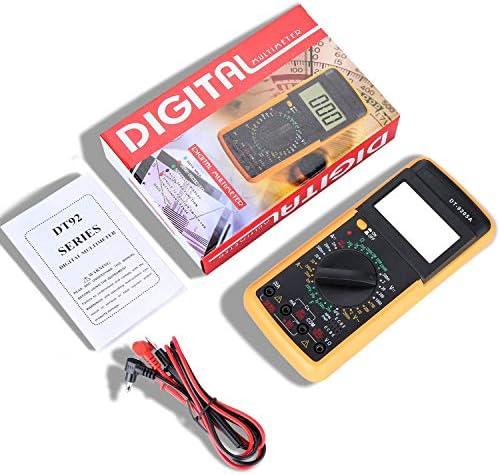 Multimetro Ohmmetro con Puntali Retroilluminazione LCD Redmoo Multimetro Digitale Voltmetro AC//DC Resistenza Corrente Continua Transistor Diodo Tester di Continuit/à