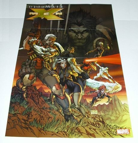 (2006 Marvel Ultimate X-Men 36 by 24 Inch Promo Poster by Michael Turner:Wolverine/Rogue/Cable/Iceman/Storm/Cyclops)