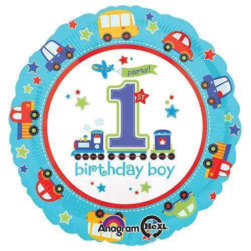 """Anagram 29806 All All Aboard Birthday Foil Balloon, 18"""", Multicolored"""