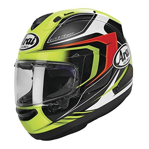 (Arai Corsair-X Bracket Adult Street Motorcycle Helmet - Fluorescent Yellow/Large)