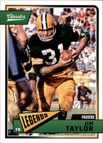2018 Classics Football #156 Jim Taylor Green Bay Packers Legend Panini NFL Card ()