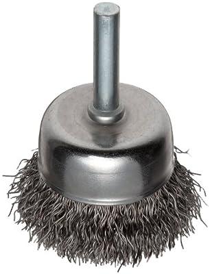 Weiler Vortex Pro Wire Cup Brush, Round Shank, Carbon Steel, Crimped Wire