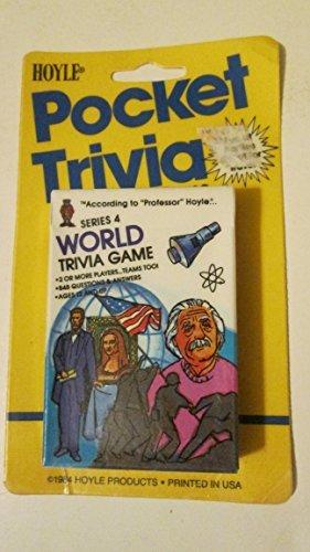 (Hoyle Pocket Trivia Cards Series 4 World Trivia Game (1984))