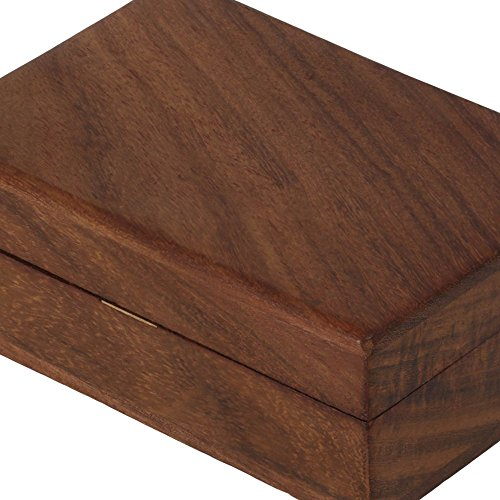 Wooden Trinket Jewelry Box, Sleek and Simple Gift for Women, 4 X 2.5 X 1.5 Inches