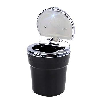 Smokeless Easy Clean Car Ashtray LED light Illuminated Ash Bin Safety Ash Tray
